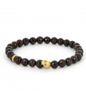 Mini - Garnet - Garnet and Vermeil bracelet