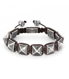 El Castillo - Chocolate leather and Sterling Silver pyramids