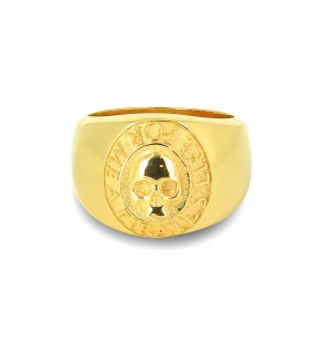 Drake's oath Gold edition - Sterling Silver ring plated with 18k Gold