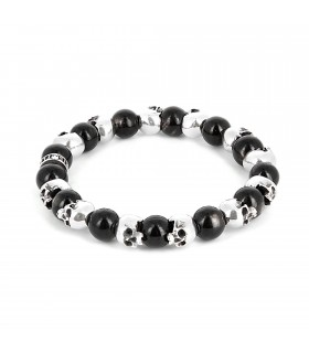 Rackham - Sterling silver skulls and hypersthene
