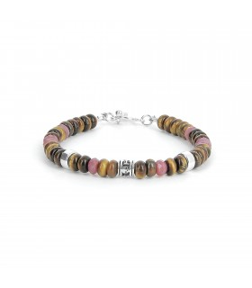 Maracaïbo - ruby and tiger eye bracelet
