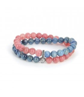 Bracelet Mary Read en kyanite et rhodochrosite