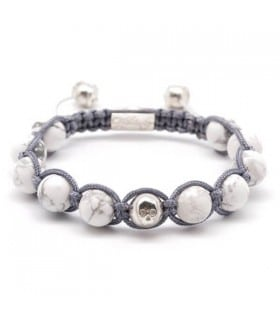 Single Gem - Howlite handmade bracelet