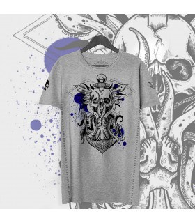 Limited edition T-shirt - Octopus Squirt gris