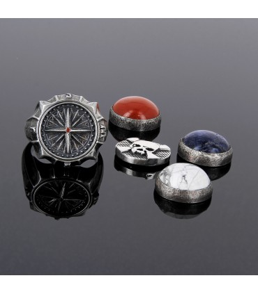Wind Rose - Sterling Silver interchangeable ring