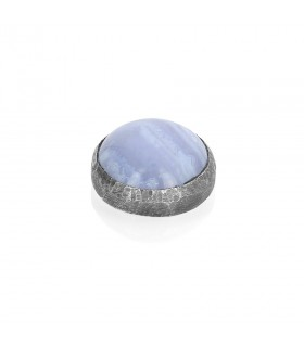 Chalcedony - Ornament for Interchangeable Ring in Silver 925