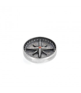 Northern star - Ornament for Interchangeable Ring in Silver 925