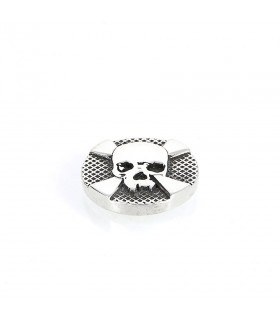Cross Bones - Ornament for Interchangeable Ring in Silver 925