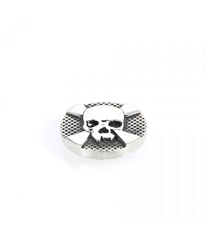 Cross Bones - Ornement pour systeme Interchangeable en Argent 925 Sterling