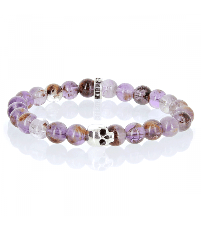 """K.I.S.S. - Cacoxenite amethyst and Sterling Silver bracelet Flibustier Paris 1 -Cacoxenite is a Greek term meaning """"bad guest""""."""