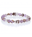 K.I.S.S. - Cacoxenite amethyst and Sterling Silver bracelet