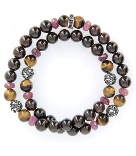 Royals Wrap - Garnet and ruby bracelet