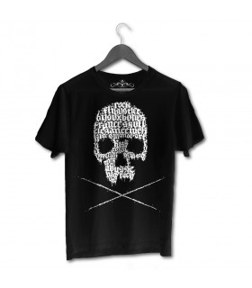 Skull by Oskunk - black T-shirt