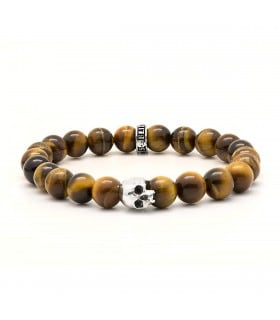 K.I.S.S. - Tiger's eye and Sterling Silver bracelet