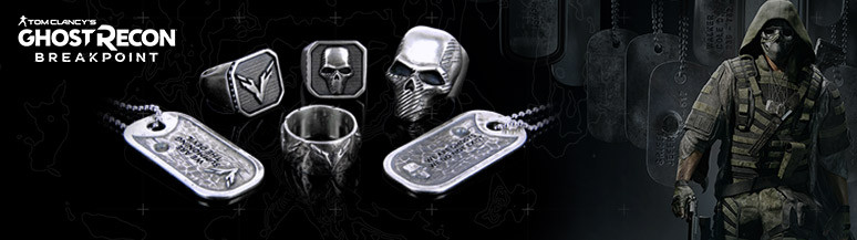Officially licensed Ghost Recon Breakpoint jewels - Flibustier Paris