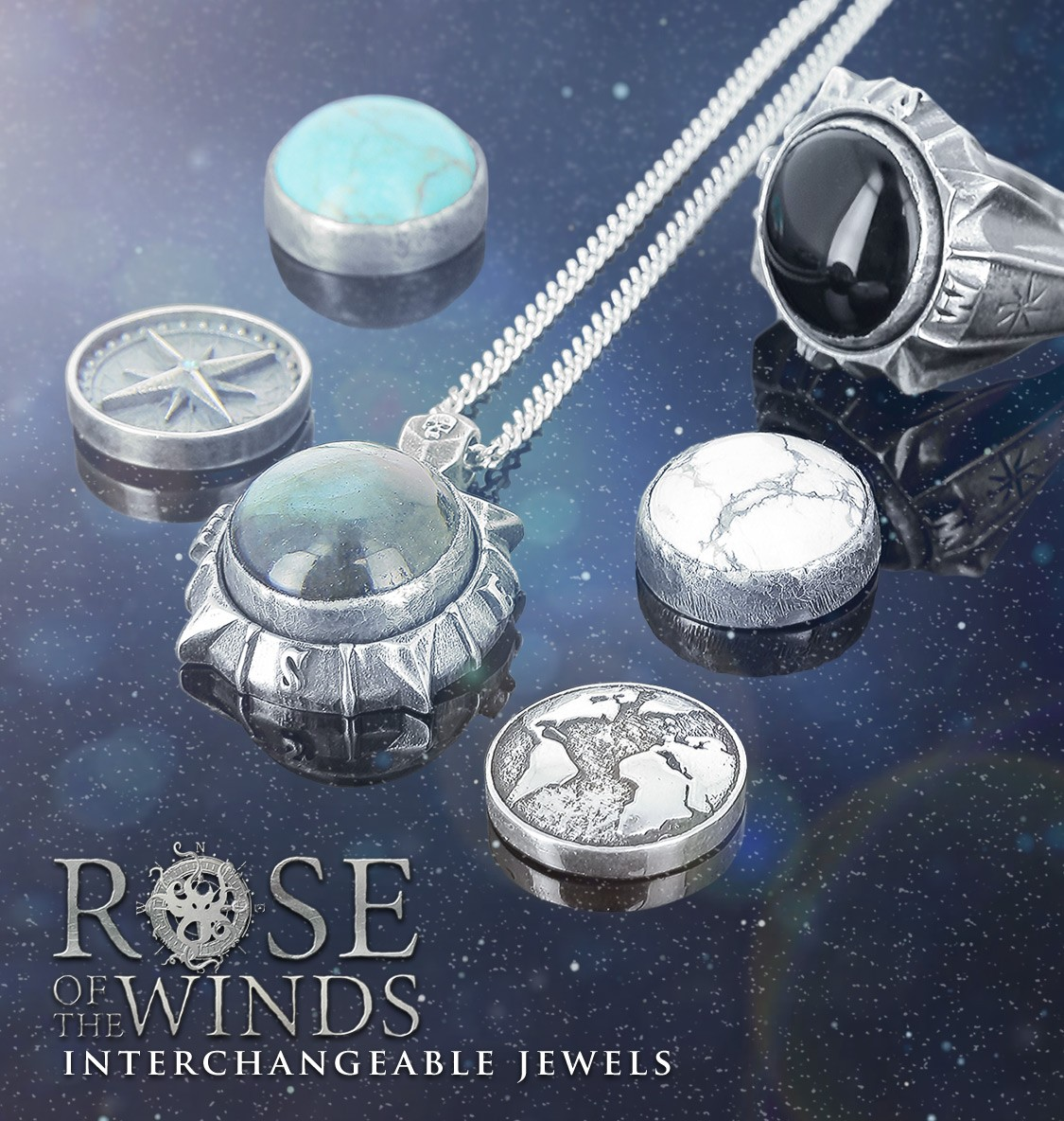 wind rose interchangeable pendant
